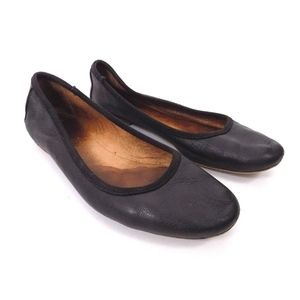 Madewell Black Leather Sylvie Ballet Flats